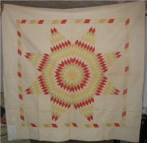 3147: Rising Sun Quilt c 1930's