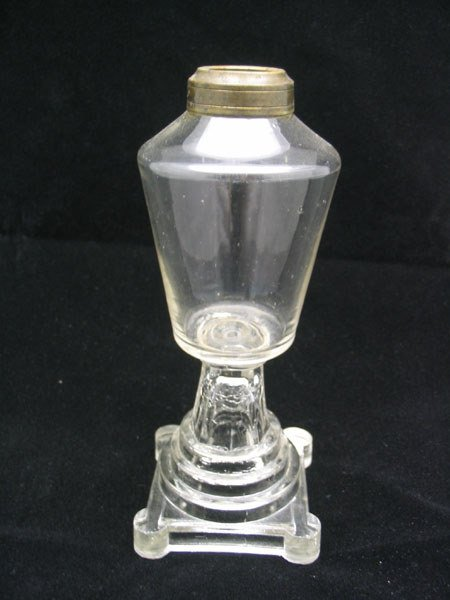 17: Clear Glass Oil Lamp