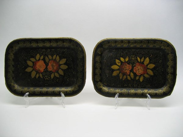 503: Pair of Japanned Toleware Trays
