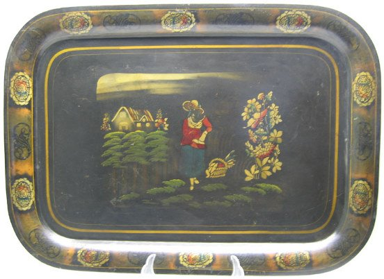 510: Beautiful Japanned Toleware Tray