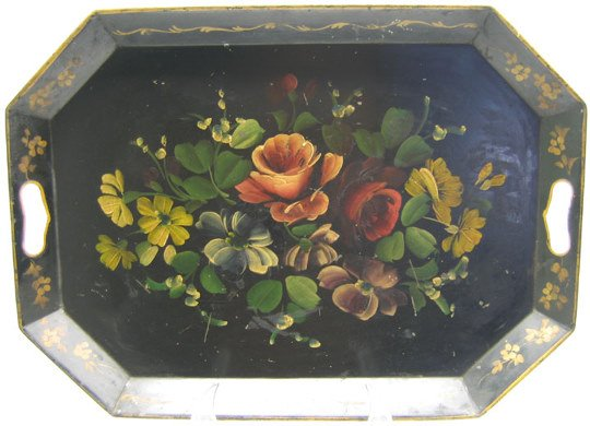 516: Japanned Toleware Tea Tray
