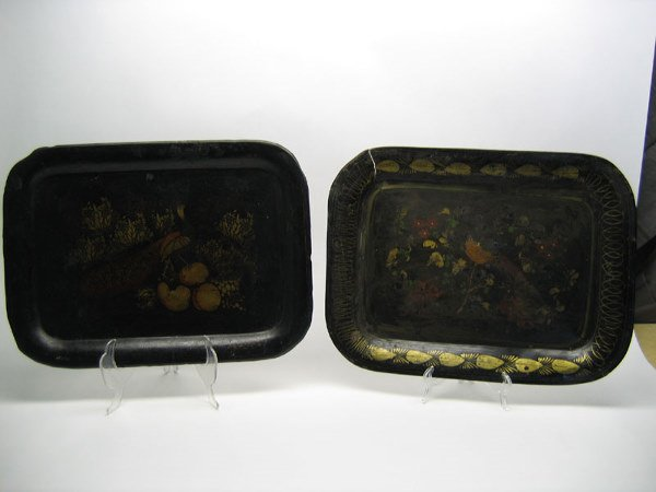 522: Pair of Japanned Toleware Trays