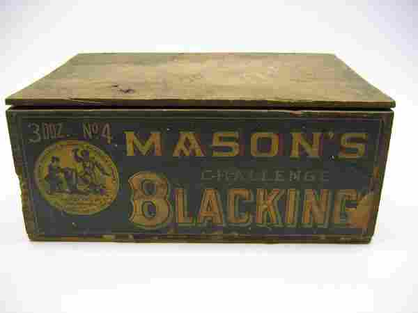 Mason's Challenge Blacking Wooden Box
