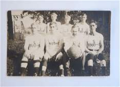 Photo Postcard of 1910 Basketball Team