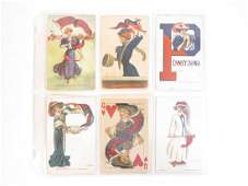 (12) University of Pennsylvania Pennant Girl Postcards