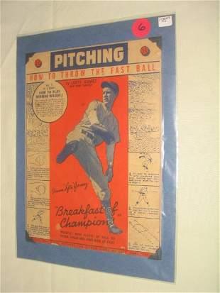 Lefty Gomez 1934 Wheaties Card: Yankees