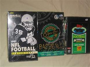 (4) Assorted Unopened Wax Boxes