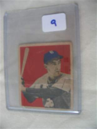 Billy Cox 1949 Bowman Card: Newport, Pa