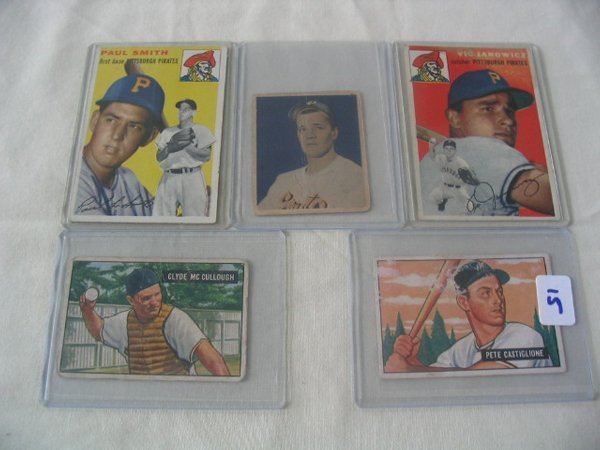 1015: Pittsburgh Pirates (5) 1950's Cards