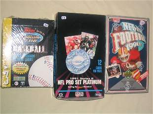 (3) Assorted Unopened Wax Boxes