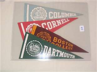 (4) 1950's Issues College Pennants
