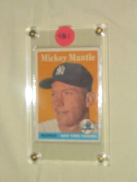 1481: Mickey Mantle 1958 Topps Card