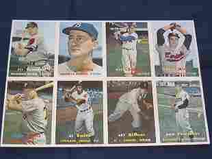 1957 Topps Cards Uncut Sheet w/Duke Snider