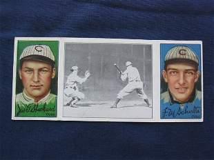Sheckard / Schulte1912 T202 Triple Folder Tobacco C