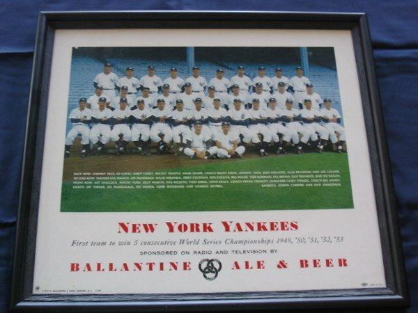 11: New York Yankees 1954 Ballantine Beer Sign