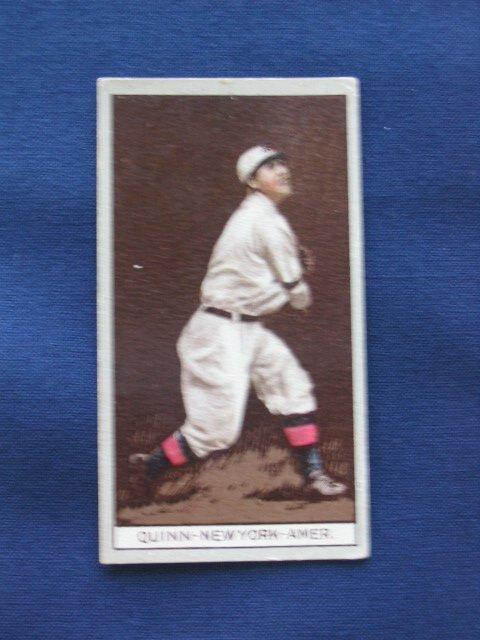 12: Jack Quinn 1912 T207 Tobacco Card
