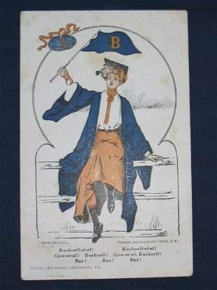 Bucknell University 1907 Football Theme Post Card