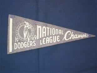 Brooklyn Dodgers 1949 NL Champs Pennant