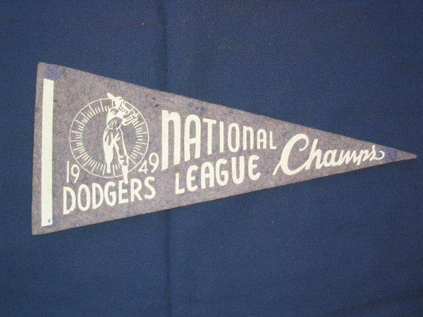 14: Brooklyn Dodgers 1949 NL Champs Pennant