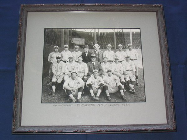 15: Williamsport Millionaires 1924 Framed Real Photo