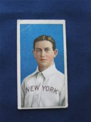 Hal Chase 1909 T206 Blue Portrait Card