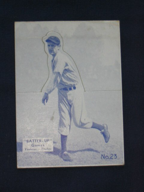18: Lefty Gomez 1934 Yankees Batter Up Card
