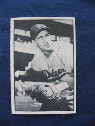 Billy Cox1953 Bowman Black and White Card