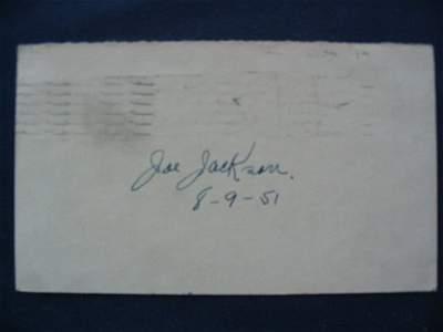 146: Joe Jackson Signature Dated 8/9/51