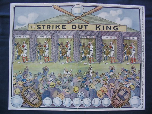 156: Strike Out King Game Original Mailers 1922