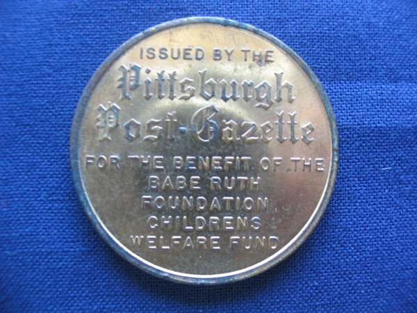 264: Babe Ruth 1950's Ruth Foundation Coin - 2