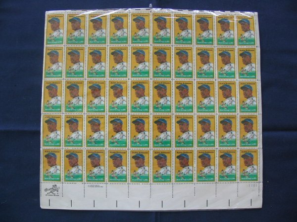 292: Sheet of (50) Jackie Robinson 20 Cent Stamps