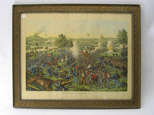 1: The Battle of Gettysburg - Framed Civil War Print
