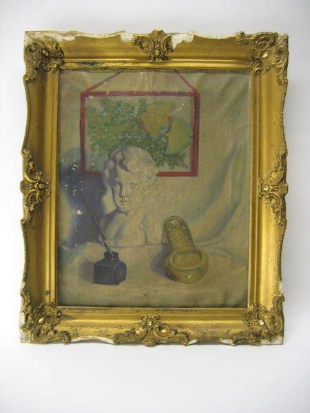 2: Civil War Era Oil on Canvas - Framed