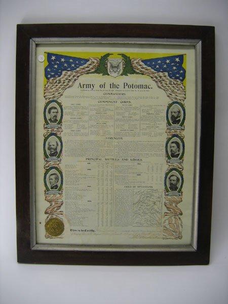 3: Army of the Potomac - Civil War Membership Certifica