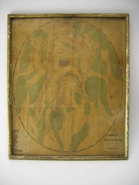 7: Civil War Battlefield Map - Field of Gettysburg