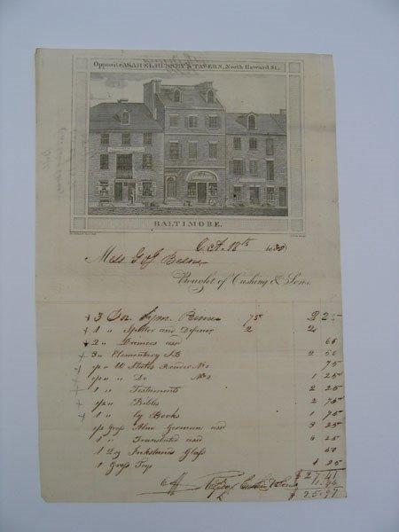 12: Cushing & Sons General Store Supplies List