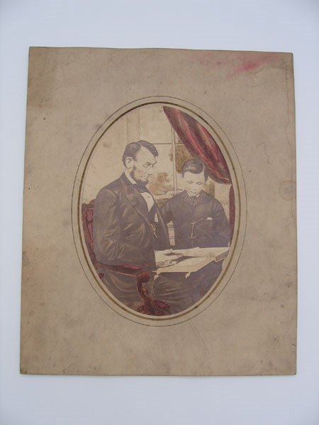 13: Abraham Lincoln w/ son Tad print