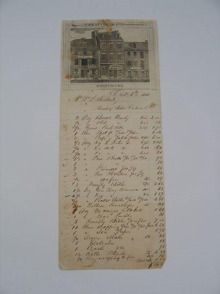 14: Cushing & Sons General Store Supplies List