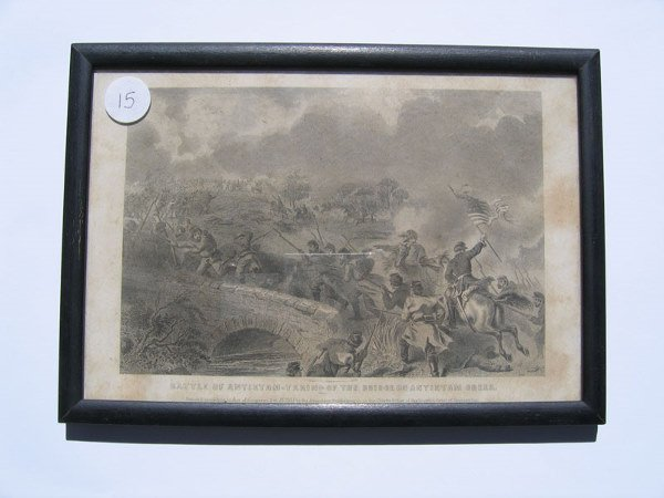 15: Battle of Antietam Framed Engraving