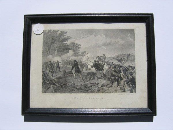 16: Battle of Antietam Framed Engraving
