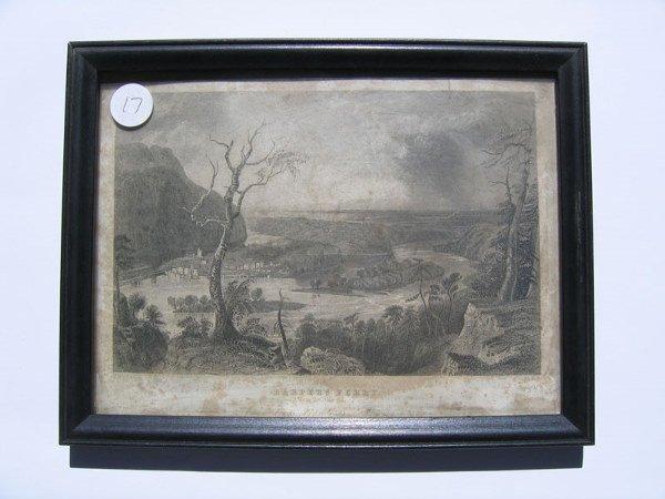 17: Harper's Ferry Framed Engraving