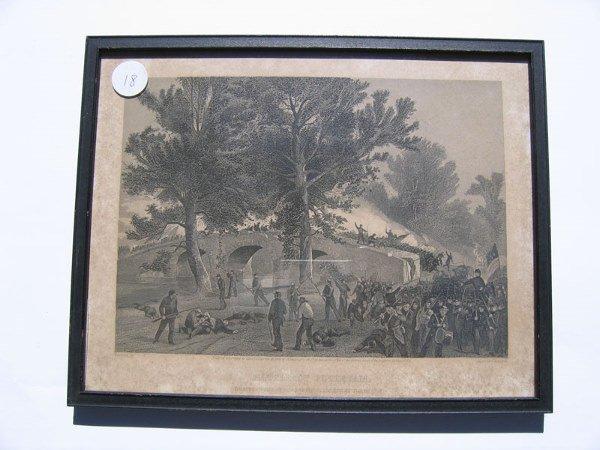 18: Battle of Antietam Framed Engraving
