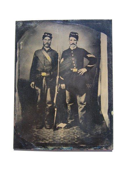 21: Daguerreotypes - Tin Type Photo - Civil War Soldier