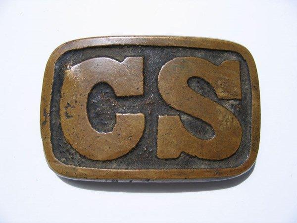 54: Confederate Civil War C.S. Belt Plate