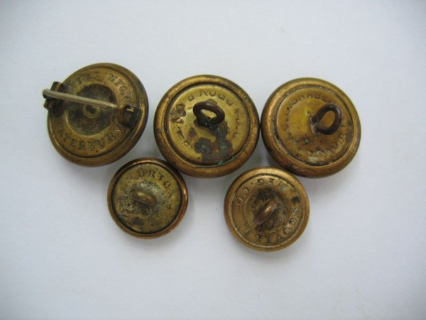 357: Civil War Union Navy Buttons (5) - 2