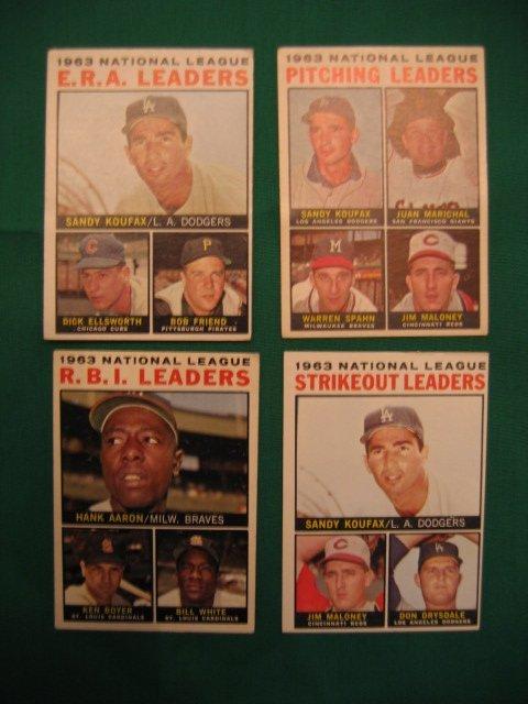 1005: 1964 Topps LEADERS Baseball Cards