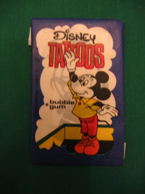 1015: Mickey Mouse Vintage Disney Tattoo's Unopened Pac