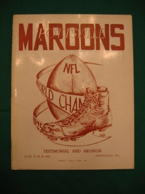 1017: Pottsville Maroons Testimonial and Reunion Progra