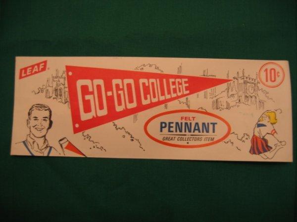 1019: GO-GO College LEAF Felt 10 Cent Pennants