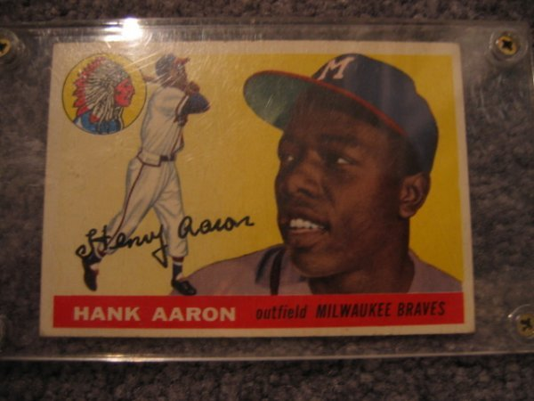 1526: Hank Aaron 1955 Topps Baseball Card #47